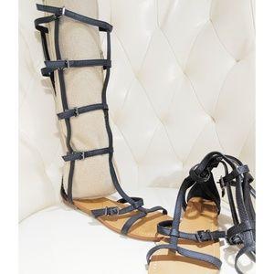 BCBG Knee-High Buckled Gladiator Sandal